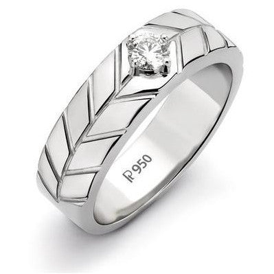 Platinum Solitaire Ring for Men by Jewelove JL PT 505 - Suranas Jewelove