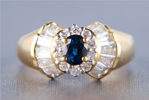 Natural Royal Blue Sapphire Ring JL R 66 - Suranas Jewelove  - 1