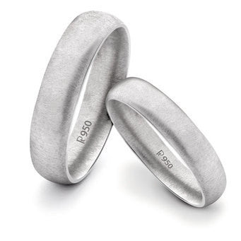 Textured Comfort Fit Platinum Love Bands SJ PTO 136 - Suranas Jewelove