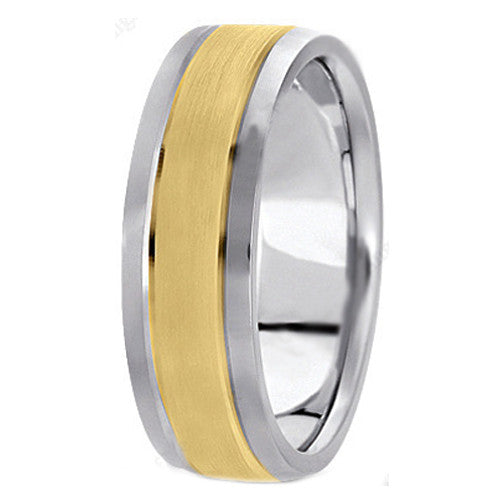 Rings - Yellow Gold & White Gold Couple Rings JL AU 103