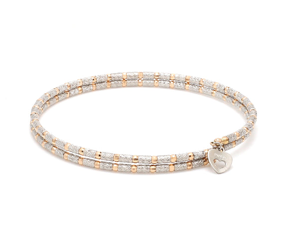 Unique Shiny Japanese Platinum & Rose Gold Bracelet for Women JL PTB 725