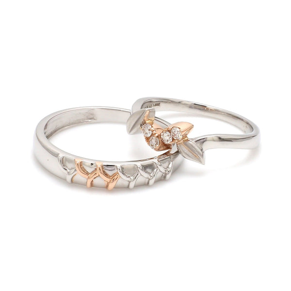 Platinum & Rose Gold Couple Rings JL PT 999