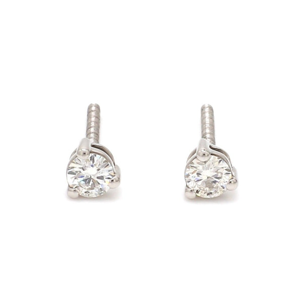 20 pointer Solitaire Diamond Earrings in Platinum SJ PTO E 152