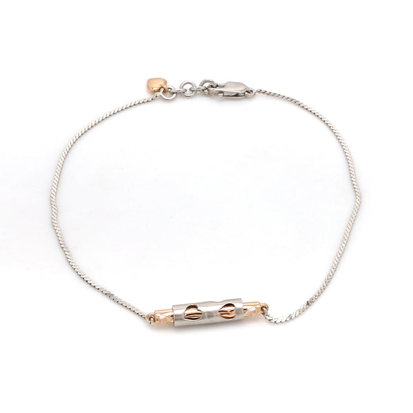 Platinum Rose Gold Bracelet for Women JL PTB 743
