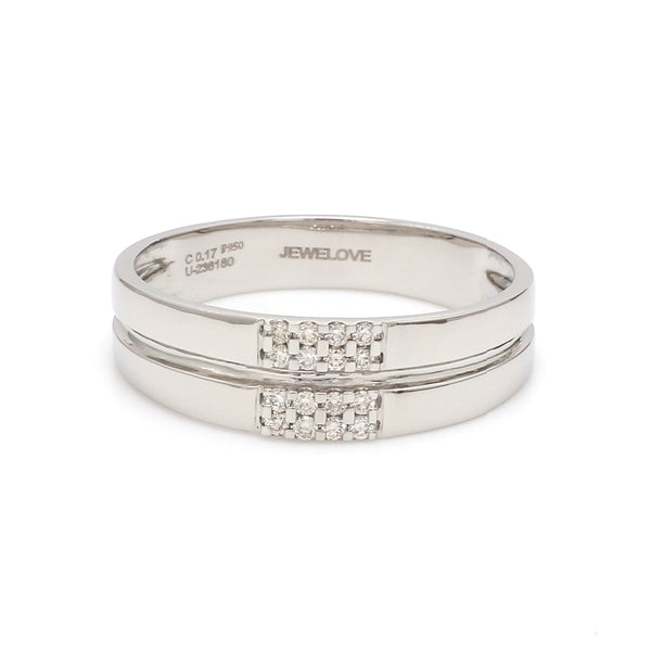 Simple 2 & 4 Row Platinum Love Bands SJ PTO 120