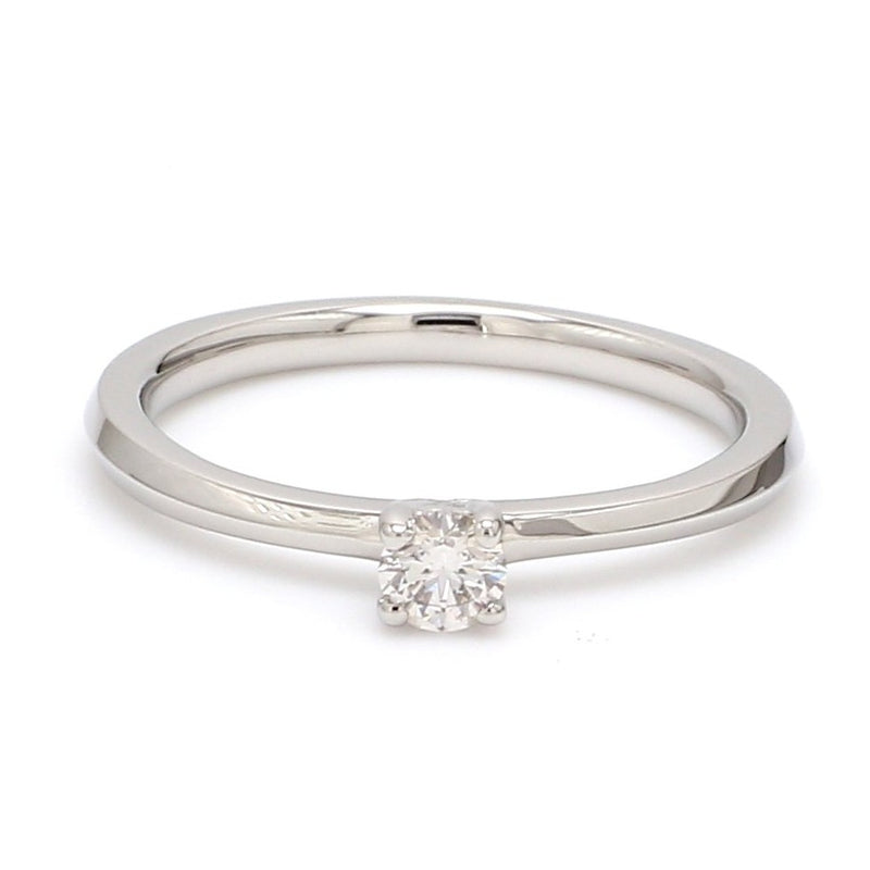 Ready to Ship Size 12 - 16 Pointer Classic 4-Prong Platinum Solitaire Ring JL PT 669