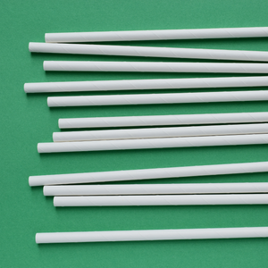 White Wrapped Paper Straw