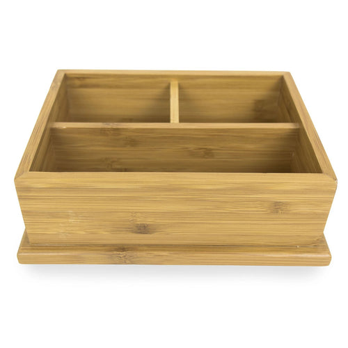 Bamboo Caddy with Three Compartments
