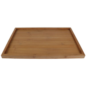 Rectangle Bamboo Tray with Raised Edges