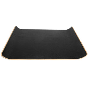 Rectangle Curved Black Wood Tray with Sloped Sides