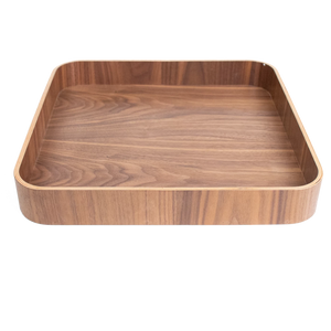 Square Natural Light Wood Tray