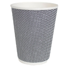 Load image into Gallery viewer, Black & White Texturized Insulated Hot Cups