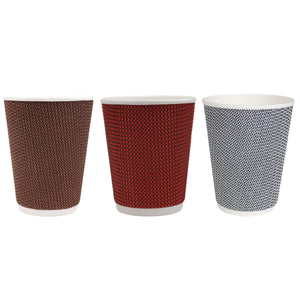 Black & White Texturized Insulated Hot Cups