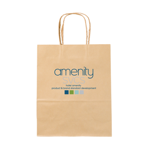 Custom Branded Recycled Paper Pet Welcome Bag