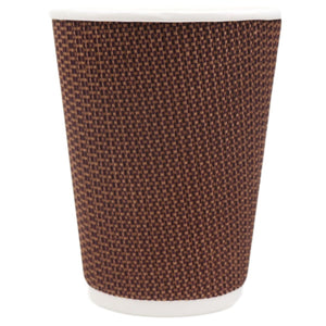 Brown & Black Texturized Insulated Hot Cups