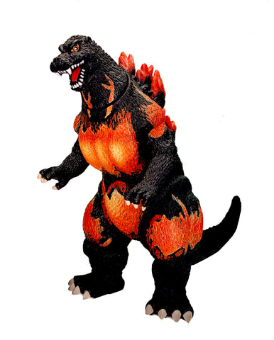 "Bandai Creation Burning Godzilla 2002, 6"" Tall and 12"" Long"