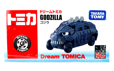 "Godzilla Diecast Attack Hum-V  by Dream Tomica, Tomy, 2.5"" long x 1.5"" Tall, 2014"