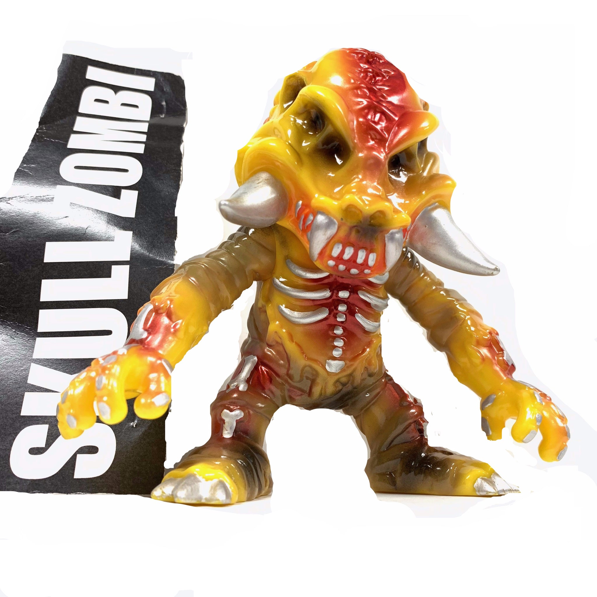 "SKULL ZOMBI by VINYL JUNKIES - OG - Vintage - 5"" Tall. Fight Figure size."