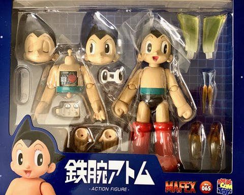 "ASTRO BOY 7"" tall Ball Joint Action Figure by Mafex with accessories"