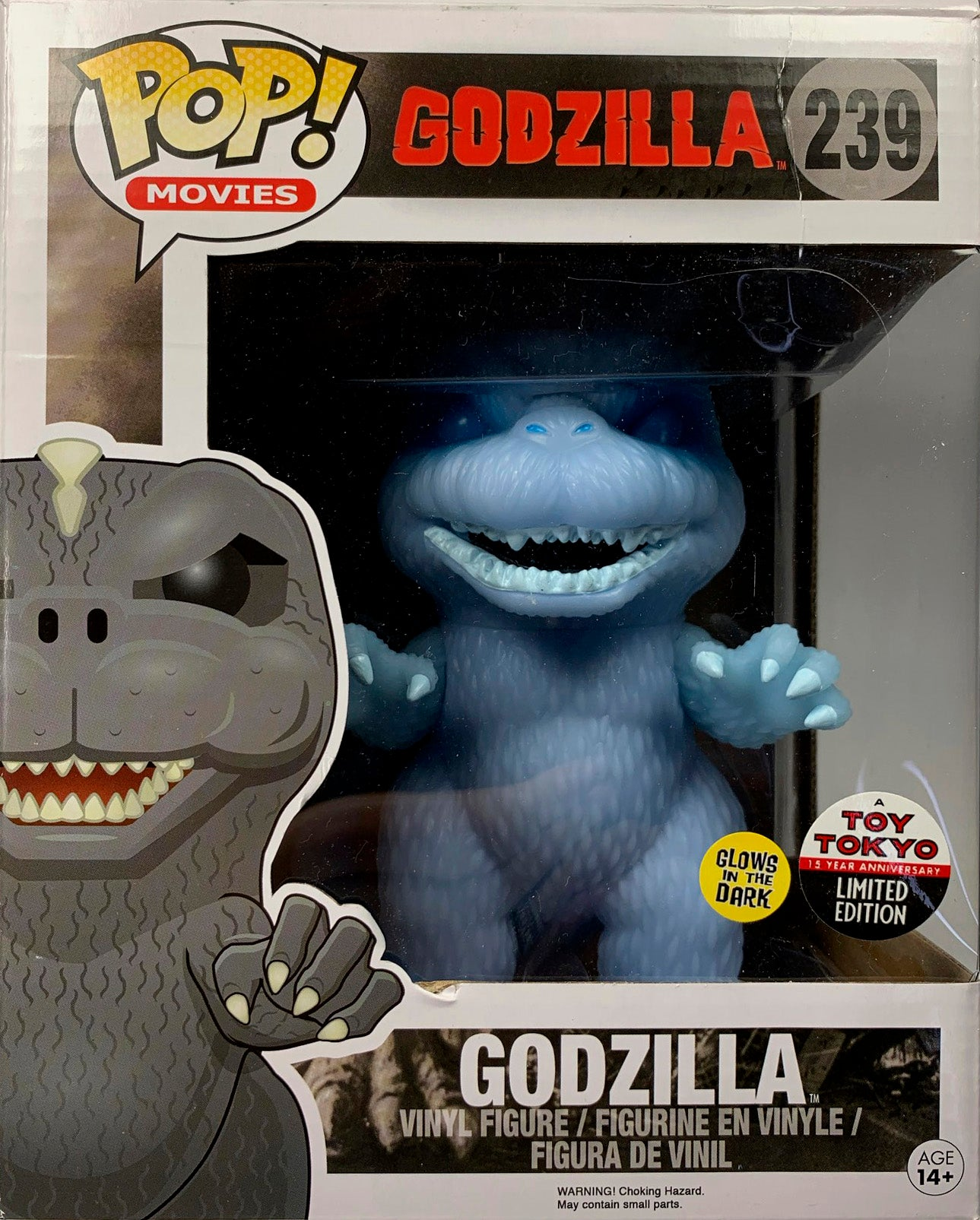 Godzilla Funko POP, Toy Tokyo Exclusive, Blue GID Limited Edition 500 pcs.