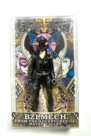 "BZLMECH Leather EFP 3.75"" Resin Figure From The New Adventures of Raven Valley! Prototype figures + Storybook Zine"