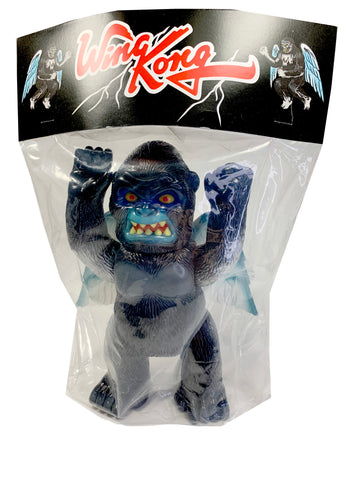 "Wing Kong Silverback by Super7, 8.5"" Tall, Black Soft Vinyl with Blue, Gray, and Silver paint"