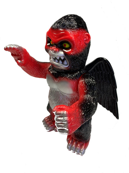 "Wing Kong by Super7, 8.5"" Tall, Red Soft Vinyl with Black and Silver paint"