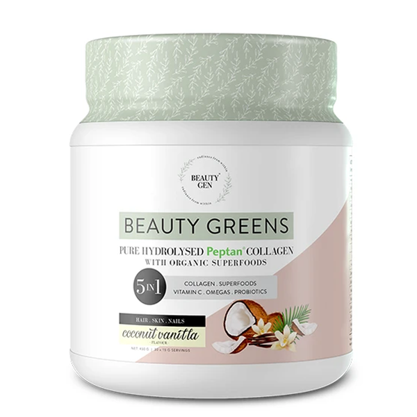Beauty Greens Hydrolysed Peptan Collagen 5 in 1 - Coconut Vanilla