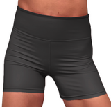 LuXe Matt Black High Waist Hotpants