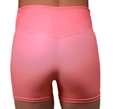 LuXe Coral High Waist Hotpants