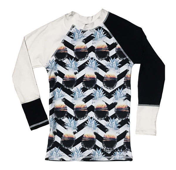 Tropic Pine & White Long Sleeve Rashvest
