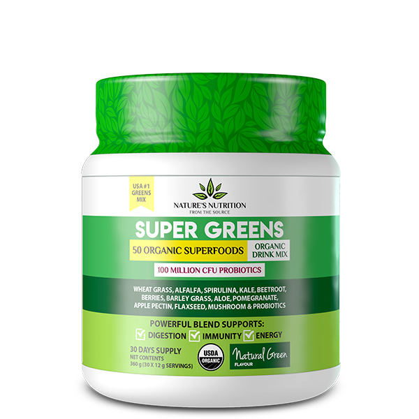 Natures Nutrition Super Greens - Natural Green