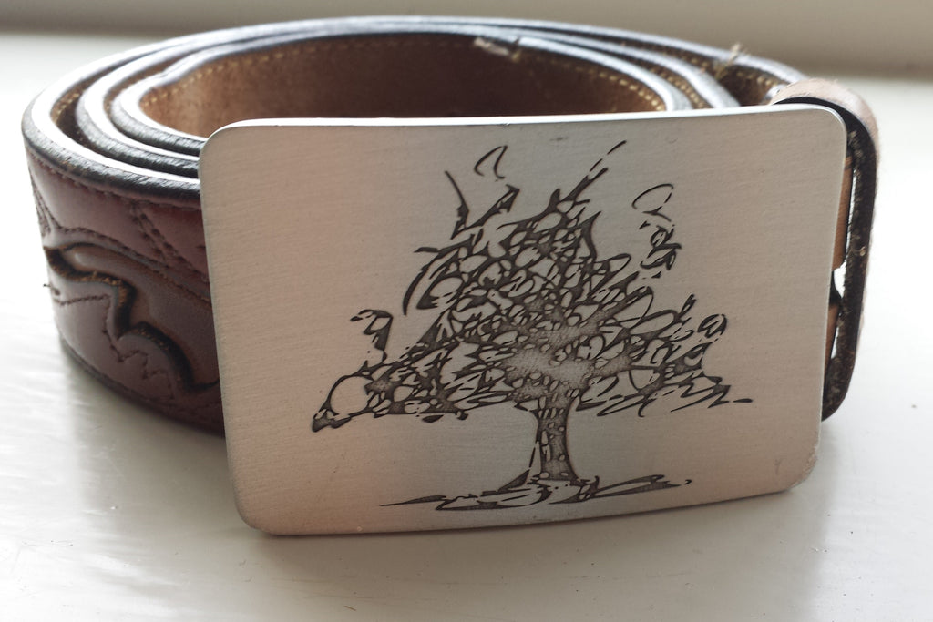 Father Nature belt buckle