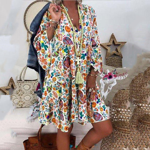 Casual Plus Size Print Dresses