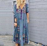 Casual Print Plus Size Maxi Dresses