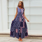 Polka DotBoho Beach Party Summer Dress Dot Casual Elegant Maxi