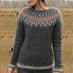 Fall Slim Long Sleeve Knitted Sweaters Vintage Embroidery Plus Size Sweaters Patchwork O Neck Casual Sweaters Jumpers
