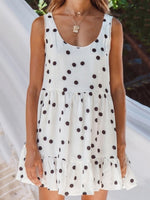 Summer Sleeveless Polka Dot Mini Dress