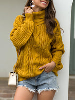 Casual Pullover Long sleeve High Neck Sweater
