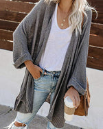 Autumn women knitted cardigan Casual long cardigan sweater