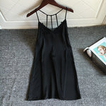 Sexy Backless Sleeveless Mini Nightgowns Summer Solid Slim Thin Sleepshirts