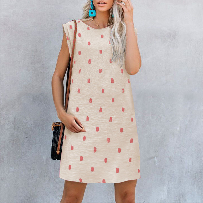 Summer Sleeveless Print Mini Dress