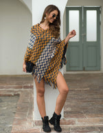 Knitted Turtleneck Cloak Camel Casual Pullover Autumn Winter Sweater