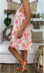 Plus Size Print Sleeveless Casual Dresses