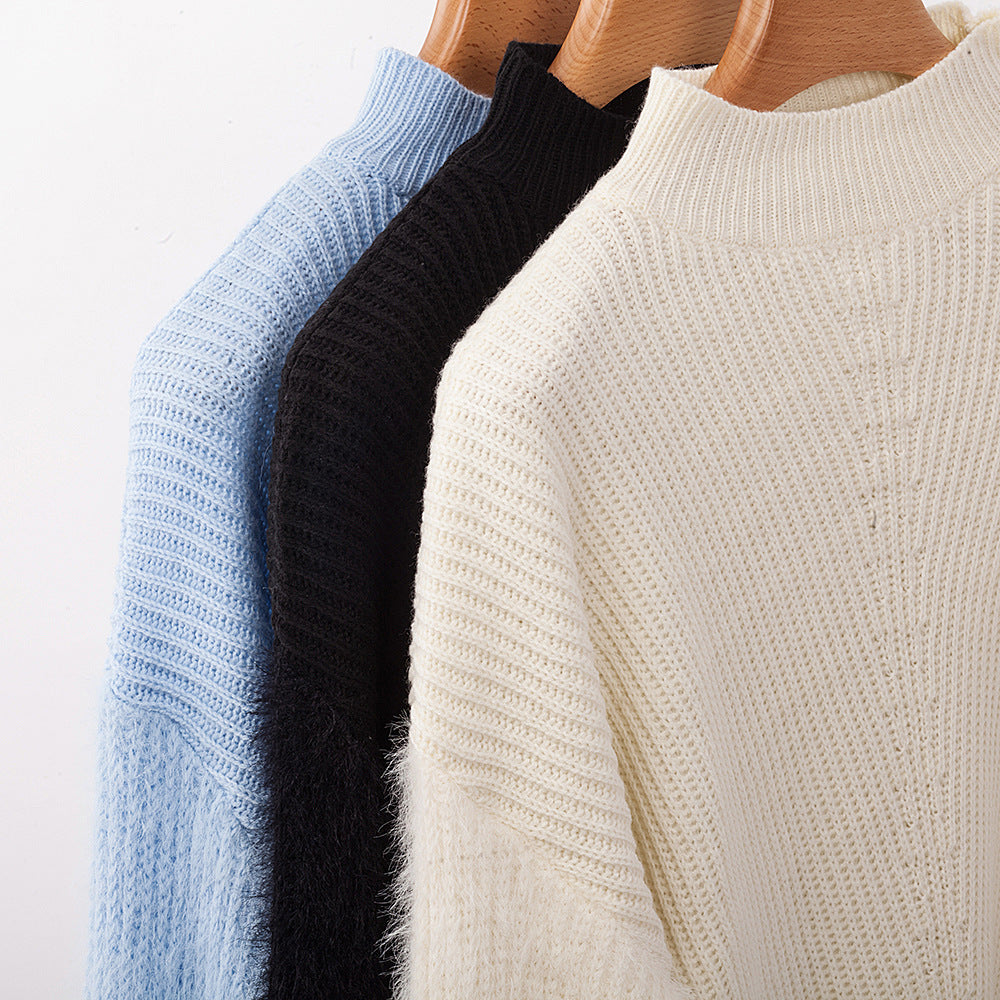 2019 Winter Long Sleeve Drop Shoulder Streetwear Knitwear Sweater
