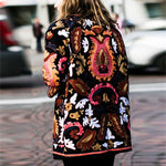 Fall Winter Folk-Custom Long Sleeve Patchwork Sweaters Embroidery Plus Size Cardigans Loose Floral Print Sweaters