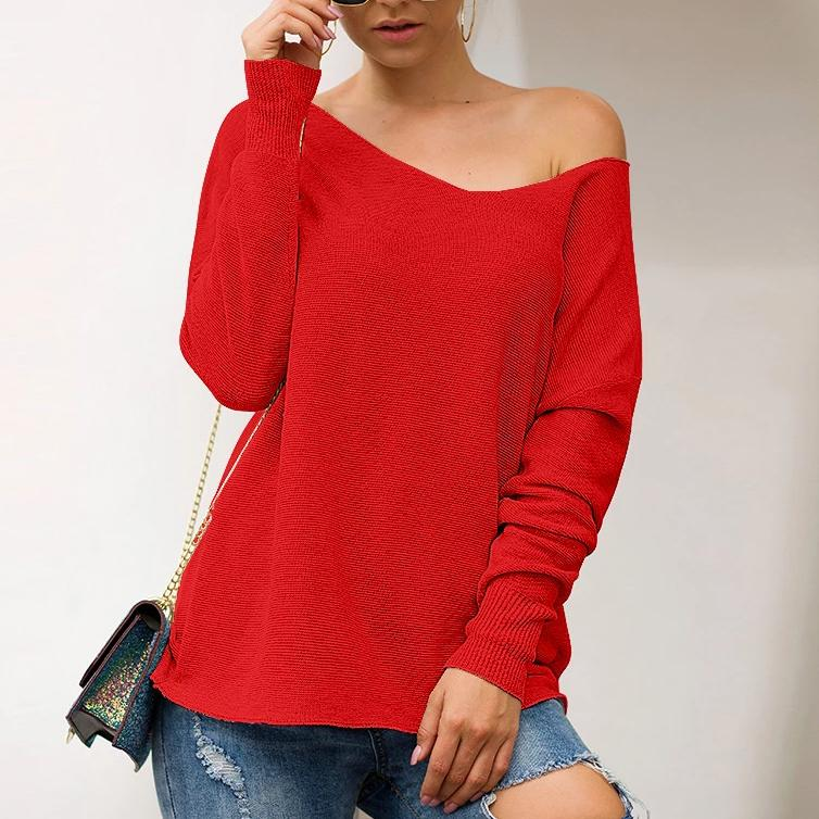 Autumn Knitwear V Neck Loose Sweater