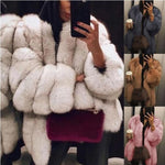 Plus Size 2XL Women Fur Coat Winter warm Plush Coat Luxury Soft Fur Jacket Coat High Quality Women Thick  Faux fur Coat