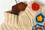winter turtleneck sweaters vintage thick warm needle 3d hand hook flower embroidery short design knit sweater women jumper