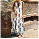 Tank Dress Female Spaghetti Strap Printed Maxi Dress